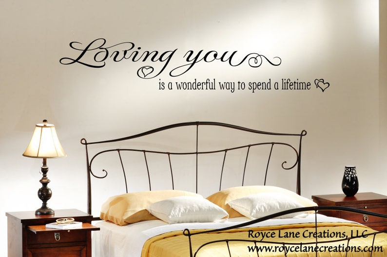 Bedroom Wall Quotes / Loving You / Love Quotes Decals / Love | Etsy