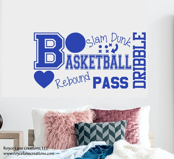 Girls Basketball Wall Decal