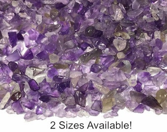 Amethyst Gemstone Chips; 50 Grams, Purple Stone Chips