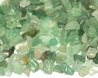 Small Green Aventurine Gemstone Chips, 50 Grams