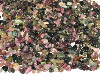 100G Natural Tourmaline Chips,Gemstone Chips Undrilled Natural Tourmaline Rock Chips Tiny Small Tourmaline Chips For Jewelry Making