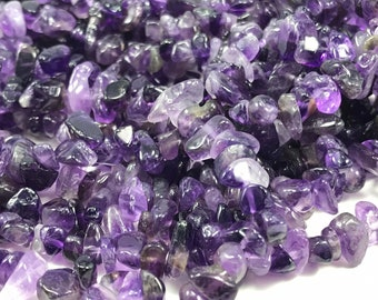 Tumbled Gemstone Drilled Crystal Amethyst Chips Stone 10g W/ Holes Diy Art Craft Beads & Jewelry Making