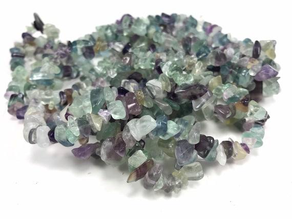 "natural chip stone turquoise quartz amethsyt fluorite crystal beads necklace 34/"""