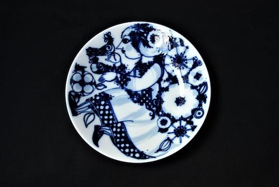 Bjorn Winblaad Rosenthal Studio-Line Whimsical Maiden with Bird Porcelain Noire