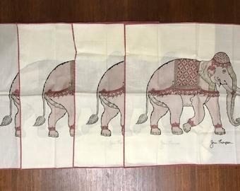 Vintage Jim Thompson Set of Four Elephant Napkins - Jim Thompson Ethnic  Elephant Napkin Set f260d2defd