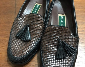 8bf9fb62062 Vintage Cole Haan two Tone Tassel Loafer - Cole Haan Woven Tassel Loafer 6