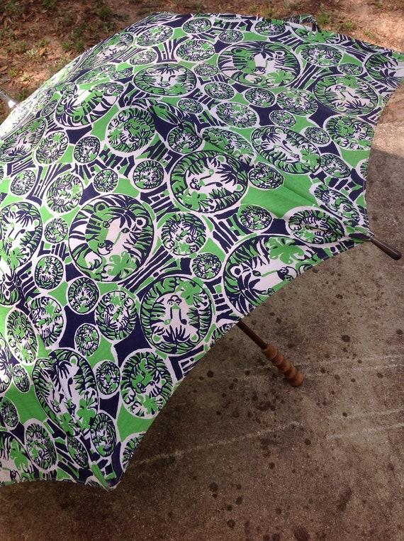 Vintage RARE Lilly Pulitzer Men's Stuff Umbrella/V