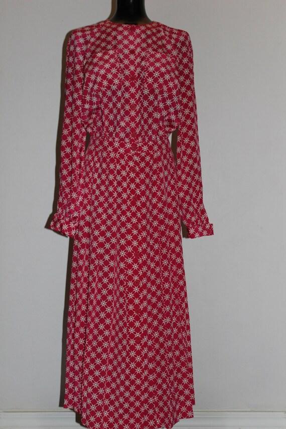 vintage halston III pink geometric pleated dress h