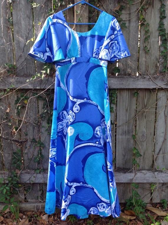 Tori Richard Honolulu 70's Maxi Dress - Vintage To