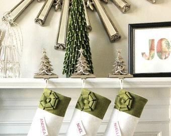 set of 4 personalized christmas stockings unique christmas gifts ideas elegant holiday stockings classic and beautiful - Unique Christmas Stockings