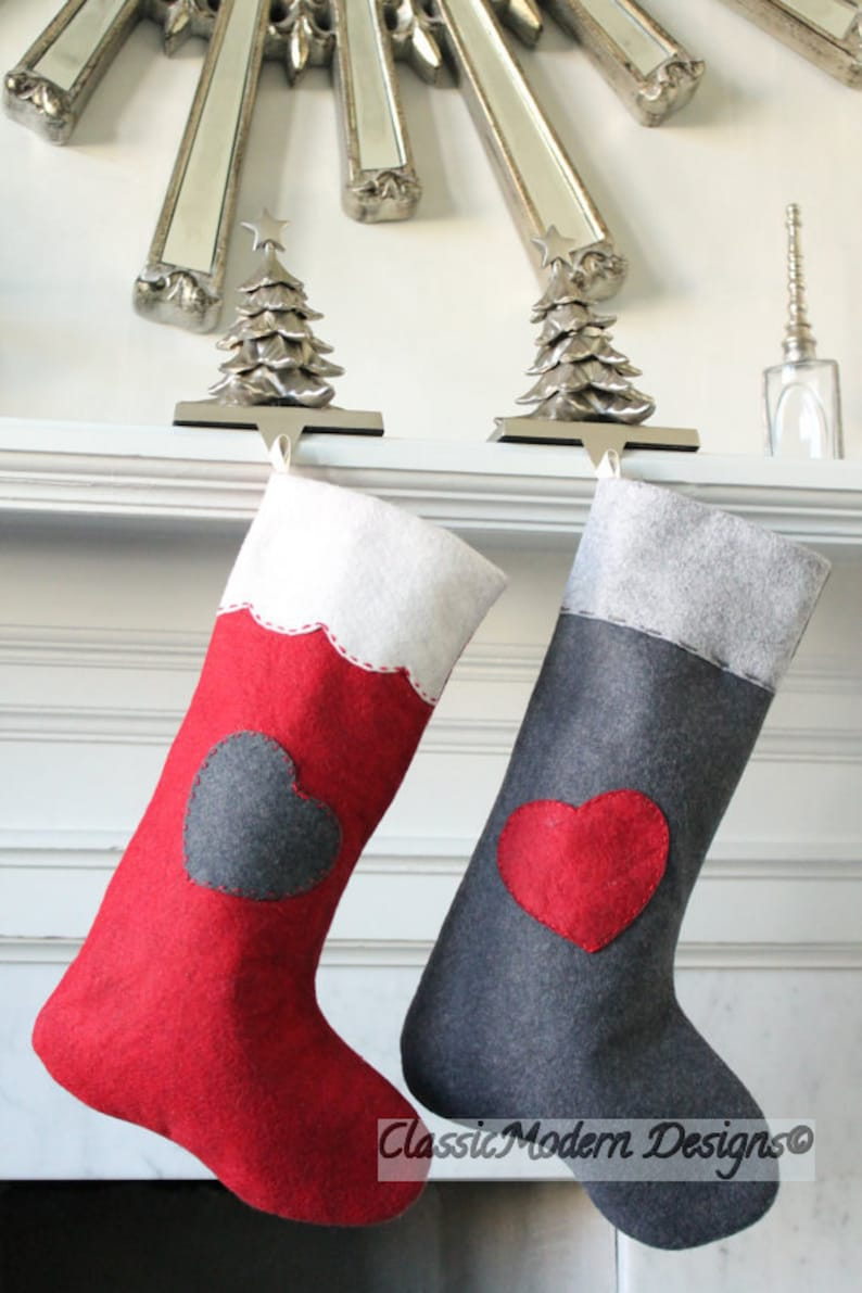 6b4cb201d CHRISTMAS STOCKING PERSONALIZED felt Stocking Wool