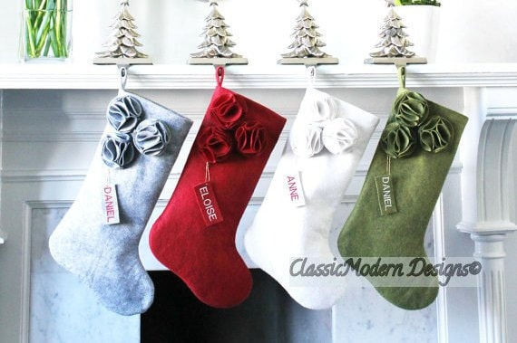 Unique Stockings Monogrammed Stockings Gifts for Her PERSONALIZED CHRISTMAS STOCKING Family Stockings Felt Stockings Wool Stockings