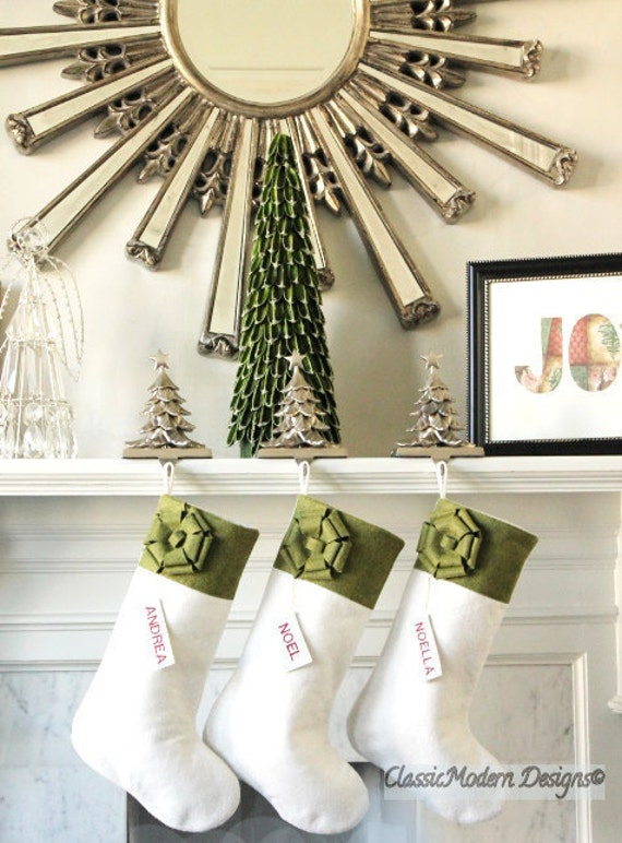 Delightful Set Of 4 Personalized Christmas Stockings Unique Christmas | Etsy