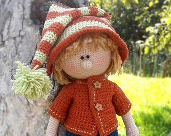Crochet doll pattern Amigurumi pattern doll Crochet toy PDF Crochet doll boy Amigurumi doll pattern Gift for children Martin the House Elf