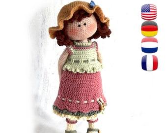 Crochet pattern Masha the doll | Crochet patterns, Crochet doll ... | 270x340