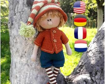 Crochet Amigurumi doll pattern Toy Boy making Martin the House Elf