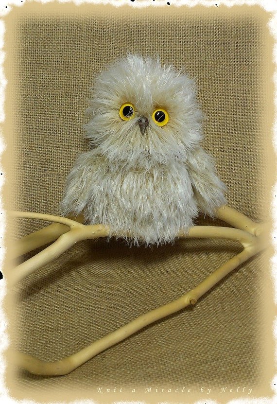 Toy Owl Knitting Pattern Knitting Pattern Toys Knitted Etsy
