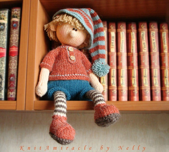 Knitting Pattern Doll Toy Knitting Pattern Knitted Doll Boy Etsy Simple Knitted Doll Patterns