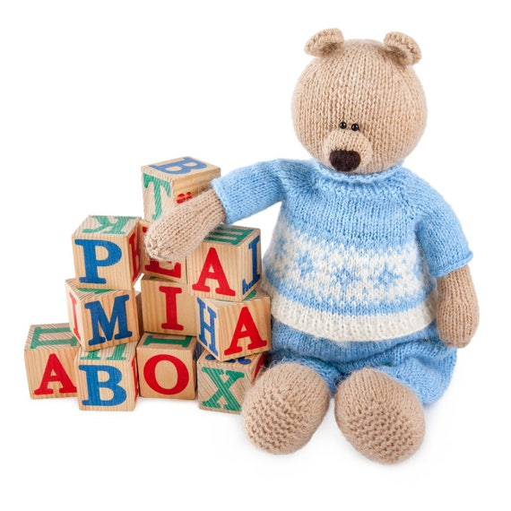 Toy Bear Knitting Pattern Knitting Pattern Toy Knitted Animal Etsy