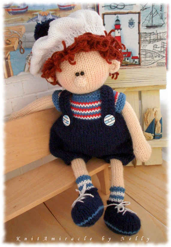 Toy Knitting Pattern Knitted Doll Knitting Pattern Boy Etsy