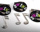Lot Of 3 quot SWING quot Vinyl Record Pins Tamazzia Brand Metal Pins Damaged for Repair