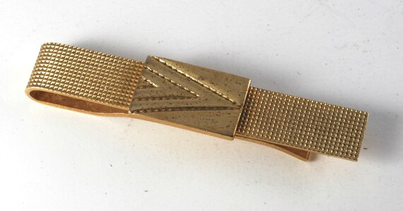Vintage Antique Gold Plated Arrow Head Pattern Tie