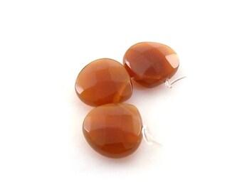 Beads Faceted Carnelian Teardrops 16mm