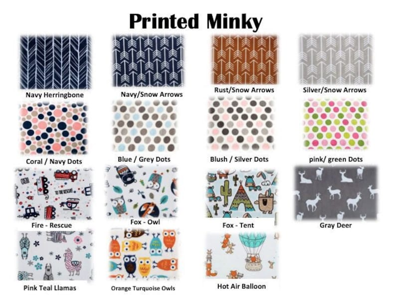 Grey and White Arrows and Baby Blue Minky Arrow Blanket Personalized Minky Blanket