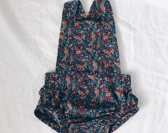 Floral baby romper