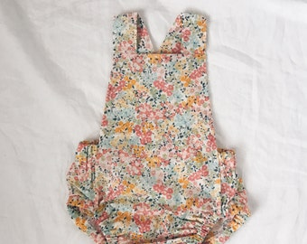 Romper in sunflower floral