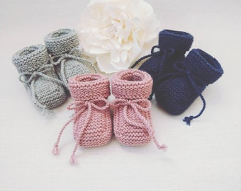 Knitted baby booties   Etsy