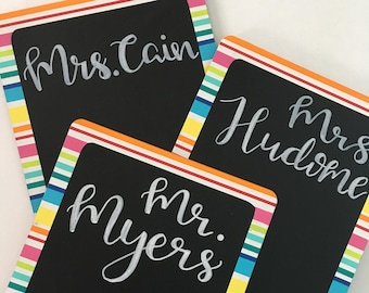 Personalized Colorful Chalkboard