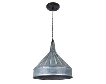 industrial pendant lighting small industrial farmhouse funnel pendant light xl light lighting metal lights dome lighting pendant lighting etsy
