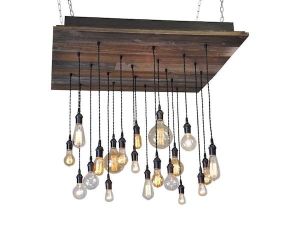 reclaimed wood chandelier metal glass image 20 pendant reclaimed wood chandelier bare bulb etsy