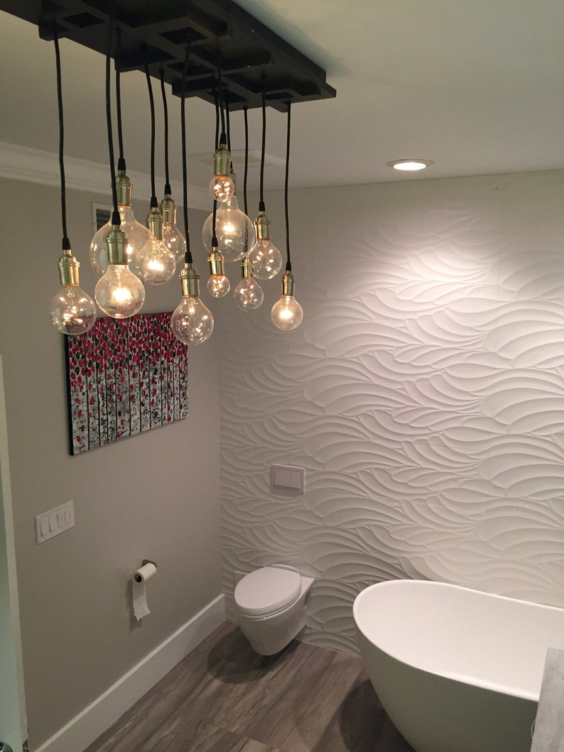 Bathroom Chandelier   Bathroom Lighting, Vanity Lighting, Vanity  Chandelier, MCM, Mission Style Lighting, Mission Style Chandelier