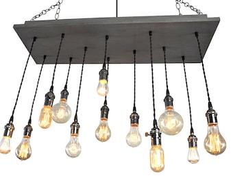 Modern Chandelier - Modern Lighting, Industrial Lighting, Exposed Bulbs