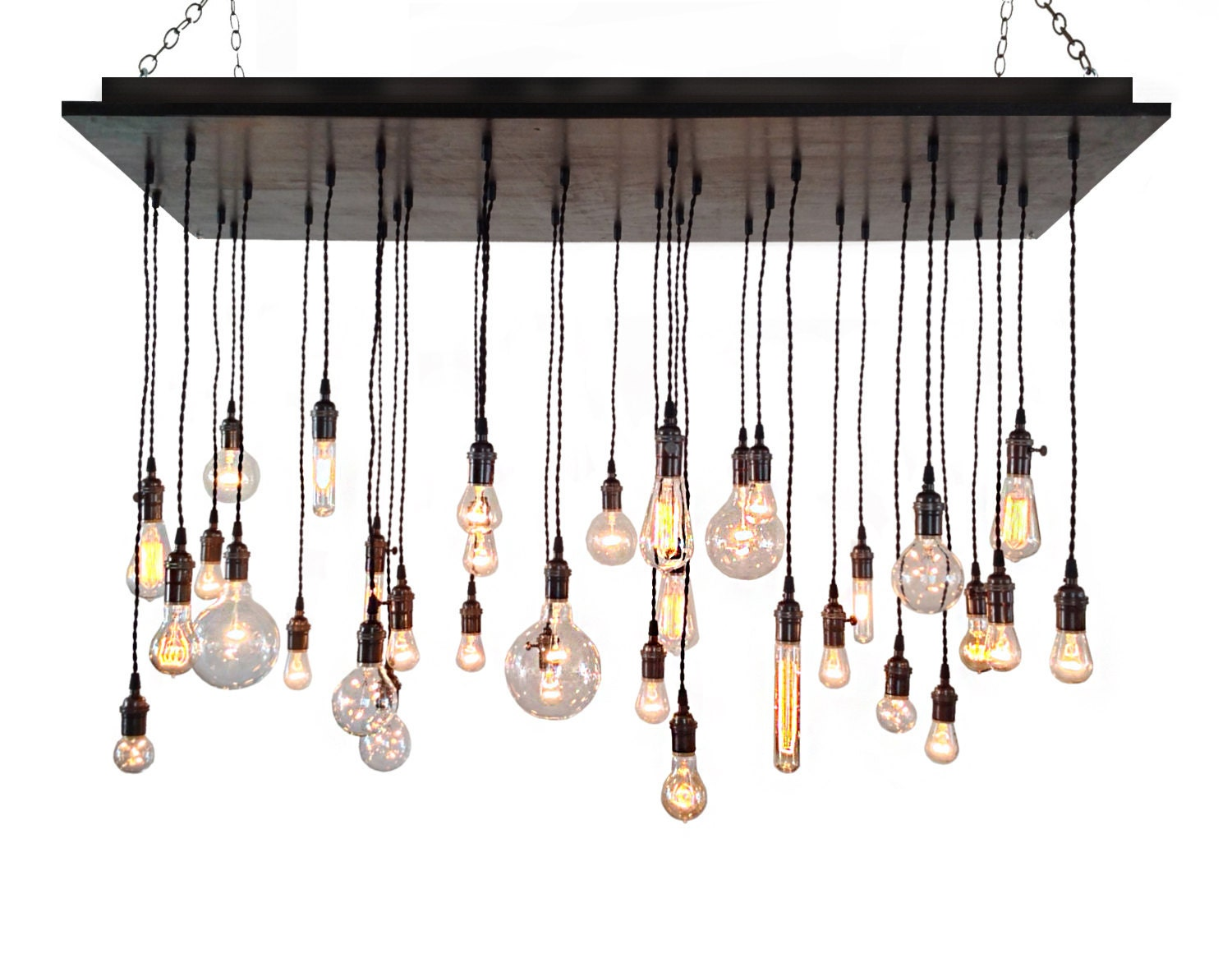 Industrial chandelier rustic lighting modern chandelier etsy