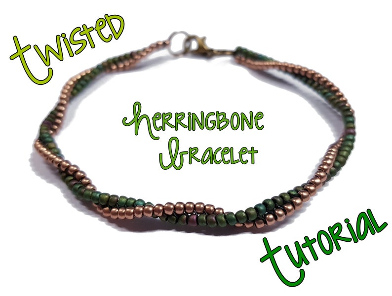 Twisted Herringbone Bracelet Tutorial image 0