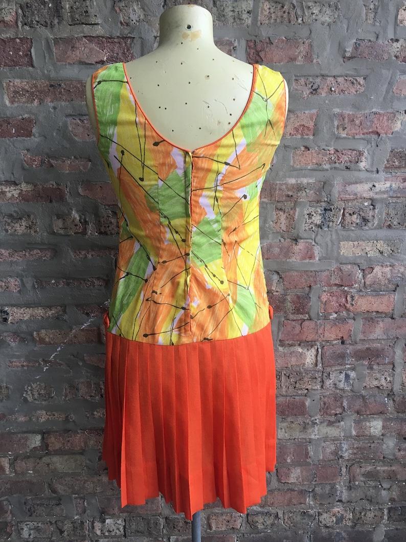 Vintage Orange Green Yellow Mini Dress Scene IV SM
