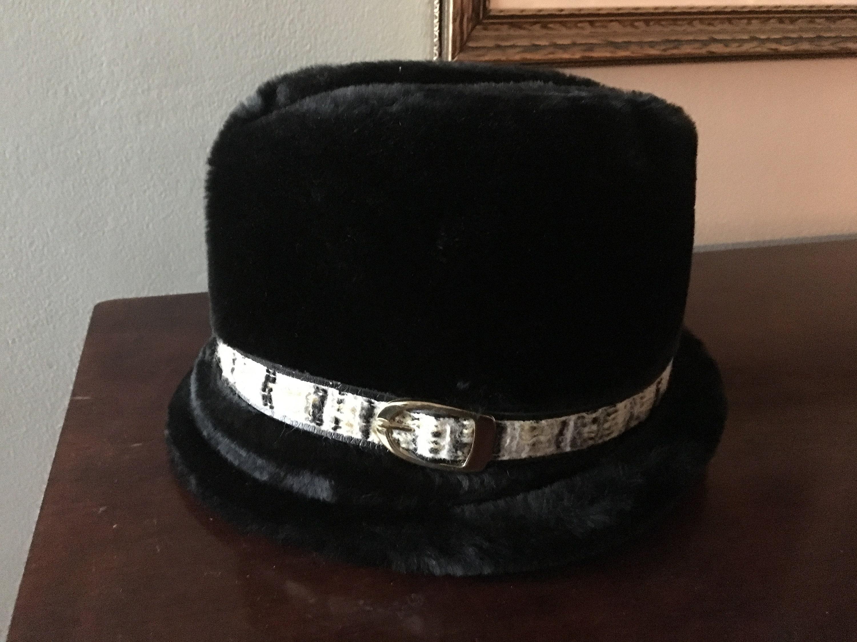 64cb8409cbcef Men s Vintage Faux Fur Winter Fedora Hat Medium