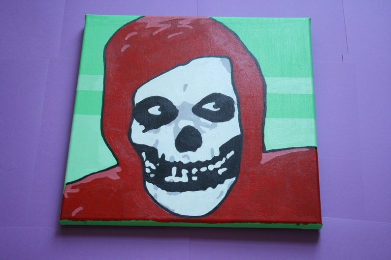 Hand Painted Original Misfits Crimson Ghost Etsy