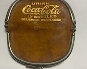 Vintage Leather Coke Coca Cola Double Coin Purse