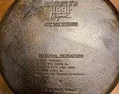 Wagner s 1891 Original 11 3 4 Skillet. With Seasoning Instructions. The Words are Crisp.
