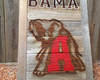 "BAMA - Roll Tide -  15"" x 21"" approx. Item #0310"