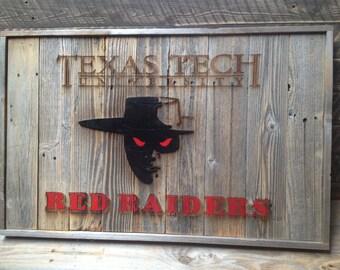 "Red Raiders - Texas Tech -  33"" x 21"" approx. Item #0318"