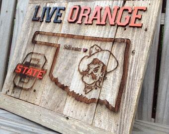 """Live Orange - Big O State and Pete Mug  12"""" x 17"""" approx. Item #718"""