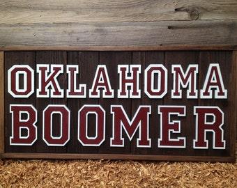 "BOOMER - Oklahoma  12"" x 25"" approx. Item #650"