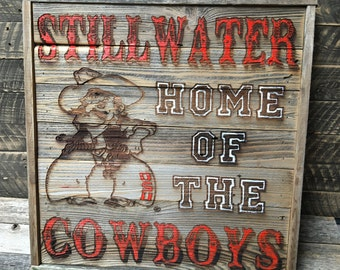 """Home of the Cowboys 24.5"""" x 25.25"""" approx. Item #799"""