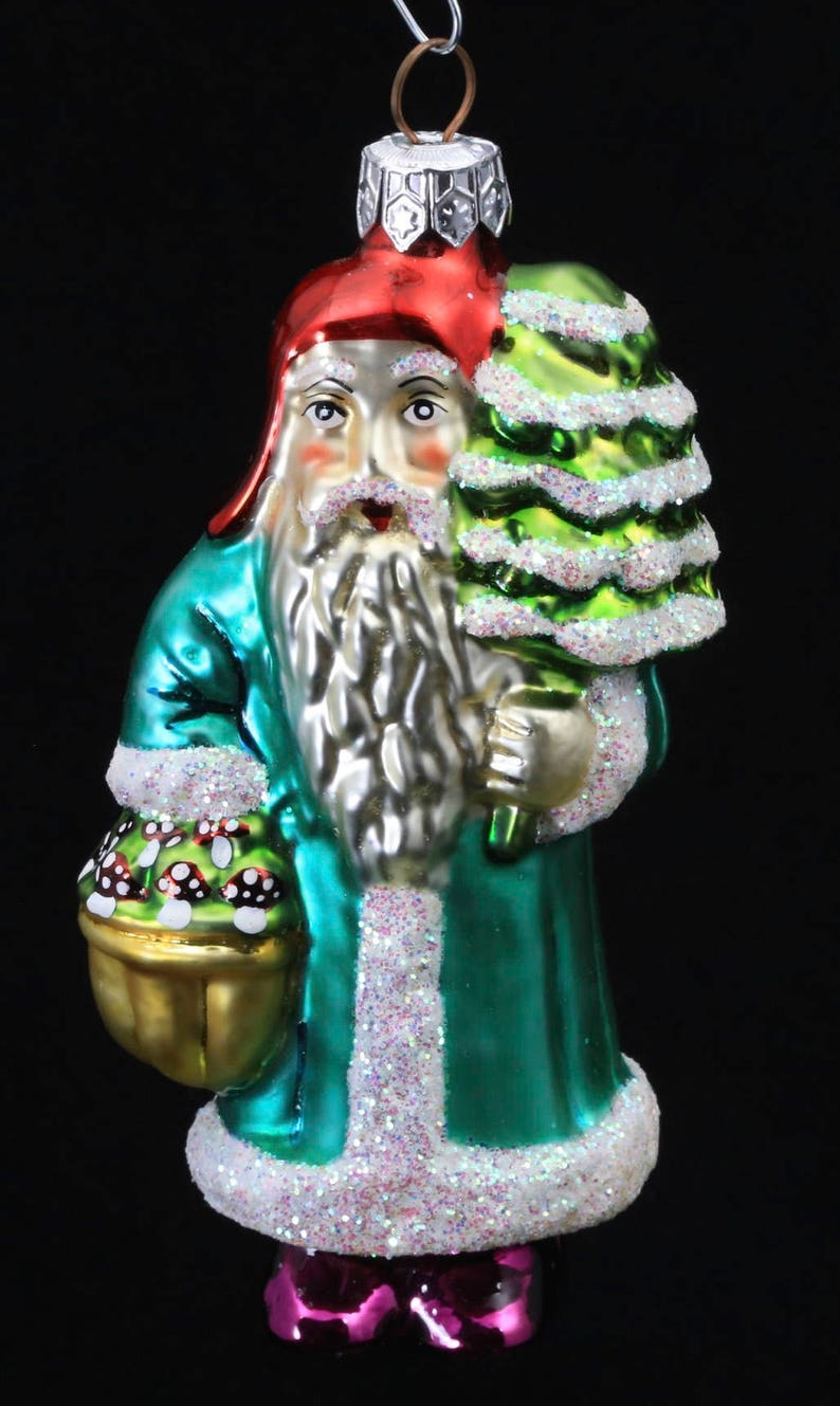 Christopher Radko Santa Glass Ornament 1995 HOLIDAY STAR SANTA VINTAGE RARE