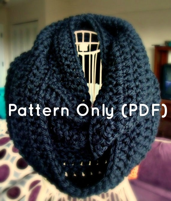 Crochet Infinity Scarf Pattern Etsy